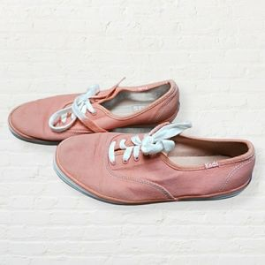 Keds peach ombre laced sneakers size 5